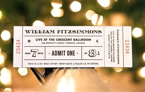 ticket design examples   inspiration