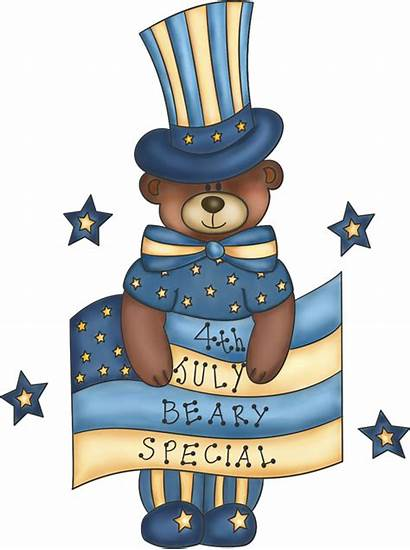 July 4th Clipart Patriotic Clip Teddy Graphics