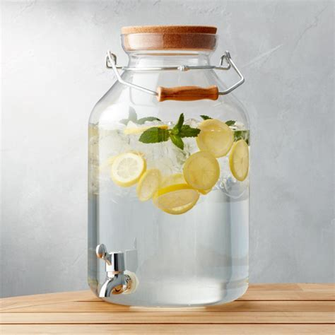 Acrylic Drink Dispenser 3 gal.   Reviews   Crate and Barrel