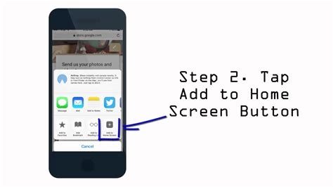 adding to iphone add to home screen iphone how to add website shortcut to