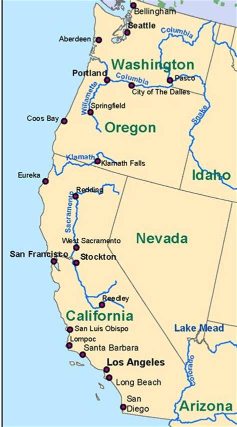 Westküste Usa Karte