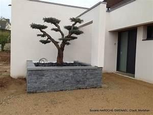 Jardin jardiniere en parement pierre stone panel for Decoration pour jardin exterieur 5 cuisine quartz noir