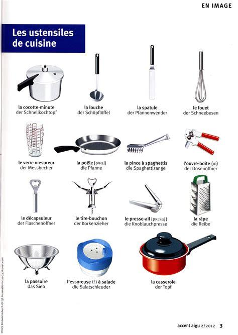 vocabulaire des ustensiles de cuisine cuisine on