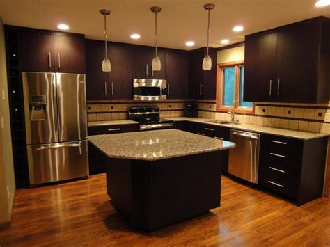 Coline Cabinets Island by Kitchen Remodeling Black Brown Kitchen Cabinets Kitchen
