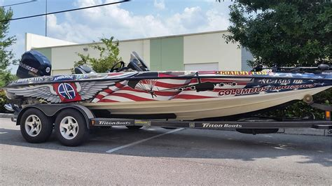 Bass Pro Boats Miami by Bobby Davis Boat Wrap Design