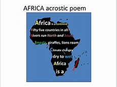 PPT AFRICA acrostic poem PowerPoint Presentation ID