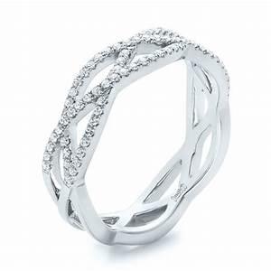 Custom Diamond Criss Cross Wedding Band 102233