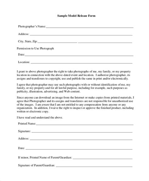 20461 model release form sle model release form 11 free documents in pdf