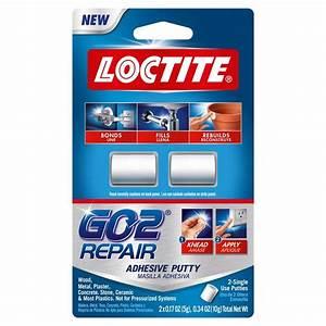 Loctite 0.34 oz. GO2 Repair Putty (2-Pack)-1722005 - The ...