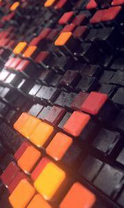 3D cubes, surface, macro, 1080x2160 wallpaper   3d cube ...