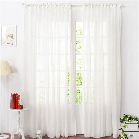 White Sheer Kitchen Curtains by Cheap Striped White Sheer Curtains For Bedrooms