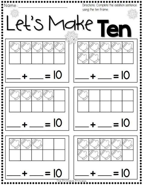 ten frame worksheets homeschooldressage