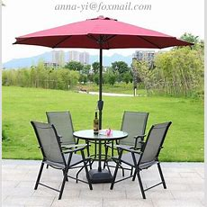 Summer Garden Furniture Table And Chairs Set With Parasol