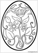 Easter Pages Flower Pattern Egg Coloring Printable Eggs Print Culture Arts sketch template