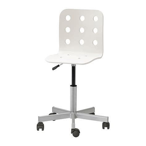 jules junior desk chair white silver color ikea