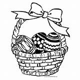 Coloring Easter Pages Baskets Popular sketch template