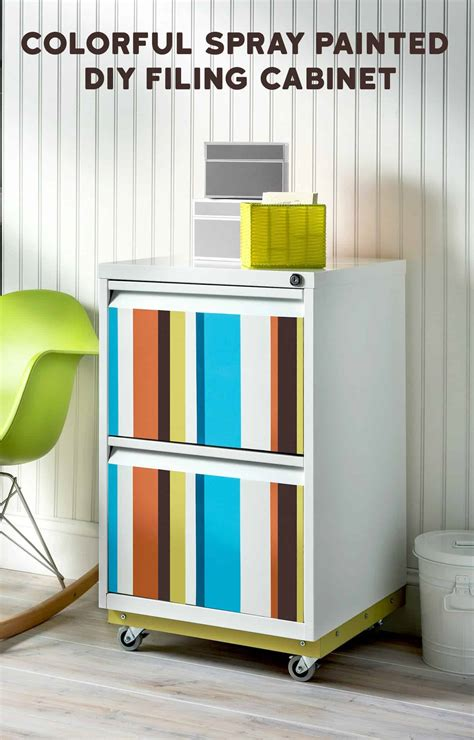 colorful striped diy file cabinet diy candy
