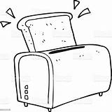 Toaster Cartoon Vector Bizarre Clip Coloring sketch template