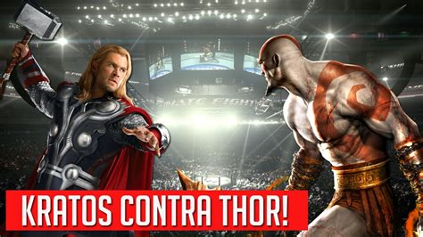 Kratos Vs Thor Youtube