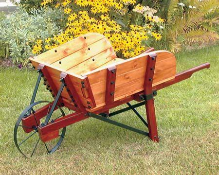 planters wheelbarrow   wooden wheelbarrow