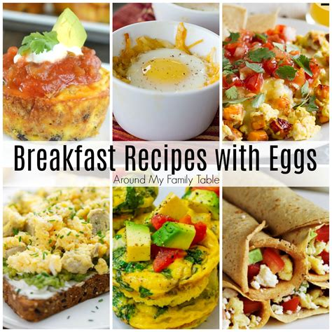 For those inevitable eggs for dinner evenings, try one of our easy recipes, which all use just a handful of common ingredients and are the perfect way to use up eggs… Breakfast Recipes with Eggs - Around My Family Table