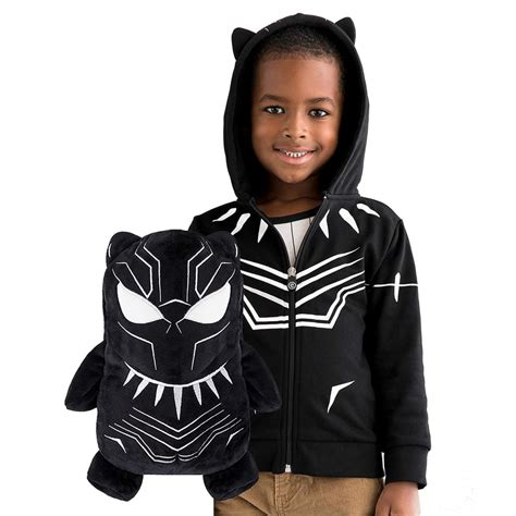 cubcoats black panther    transforming hoodie soft