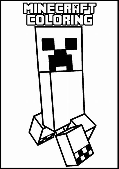 Minecraft Coloring Pages Creeper Crafts Skeleton Printables