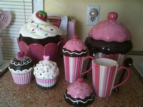 cupcake canisters for kitchen best 25 cupcake kitchen theme ideas on