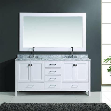 72 Inch Bathroom Mirror 72 inch white finish sink vanity set with