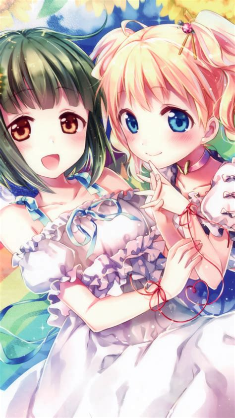 wallpaper kinmoza japanese manga sunflowers hd anime