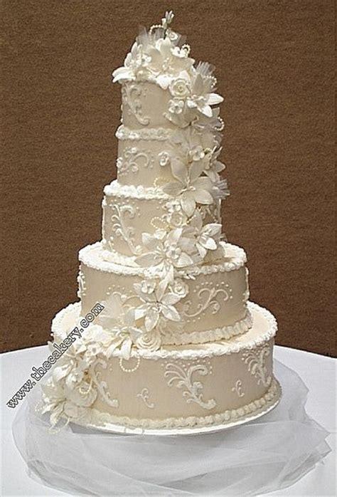 white champagne wedding cake white  ivory wedding