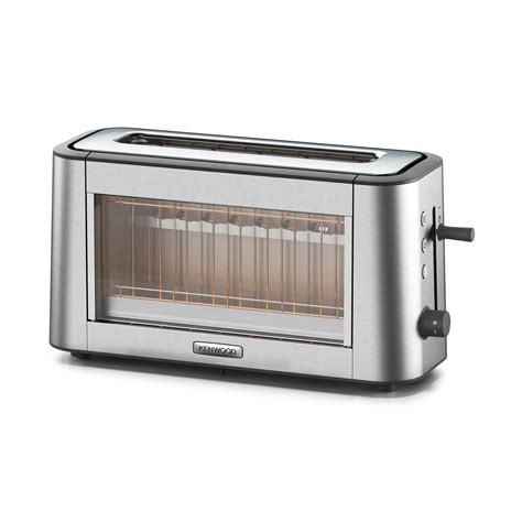 Glass Toaster by Kenwood Tog800cl Personal Clear Glass One Slot Toaster