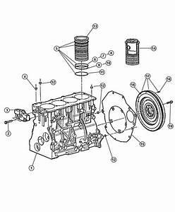 Dodge Ram 2500 Bolt  Flywheel  Block  Diesel  Cylinder