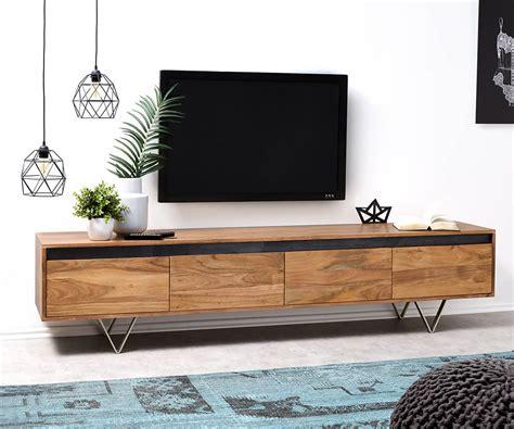 Lowboard Design Möbel by Designer Lowboard Stonegrace 200 Cm Akazie Natur 4 Sch 252 Be