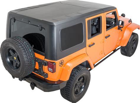 jeep hardtop smittybilt 518701 2 piece hardtop for 07 18 jeep wrangler