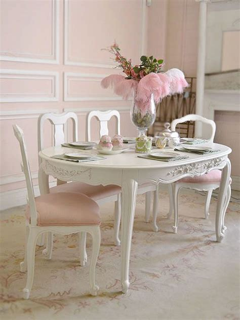 chaise baroque blanche the cottage shabby chic furniture dining