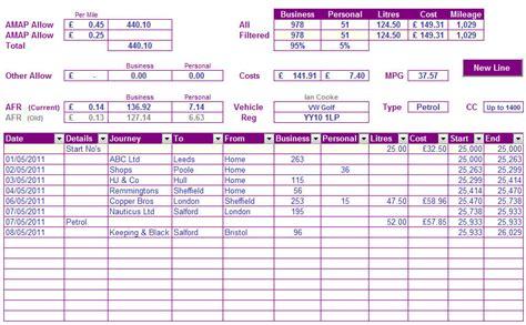 car mileage log template car mileage template