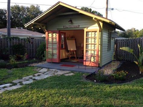 backyard shed built  art studio