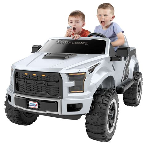 Ford F 150 Raptor Power Wheels Extreme, Silver NEW FREE