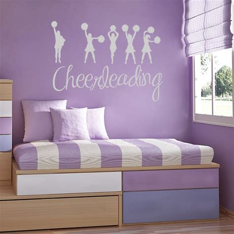 love cheerleading sports wall decals