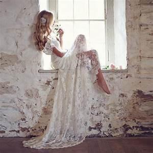 romantic lace white boho wedding dress bohemian beach With where can i buy a wedding dress