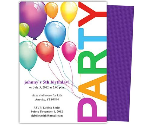 easy birthday card template templates balloons birthday