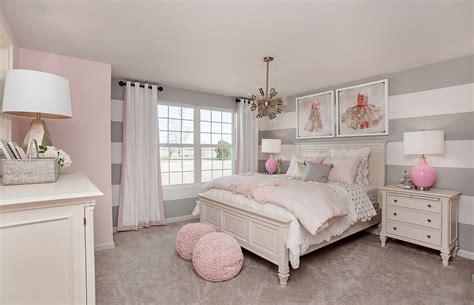 striped gray walls  pink decor   perfect match