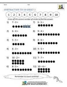 addition  subtraction worksheets  kindergarten