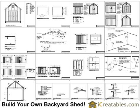 Free 10x12 Shed Plans by 10x12 Barn Shed Plans