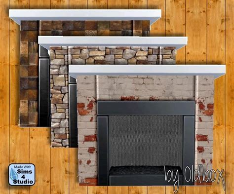 Fireplaces and posters by Oldbox at All 4 Sims » Sims 4