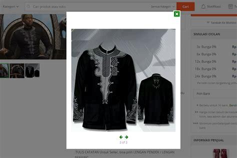 dirilis baju koko black panther dijual toko popular worldcom