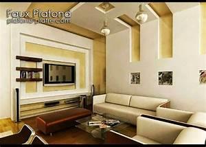 on vous propose un faux plafond suspendu avec un With delightful couleur peinture tendance salon 1 ba13