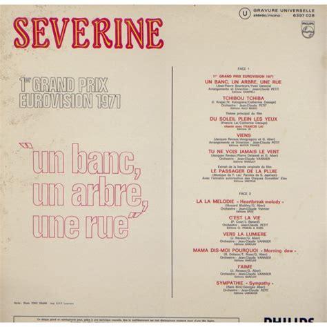 Un Banc, Un Arbre, Une Rue  1er Prix Eurovision 1971 By