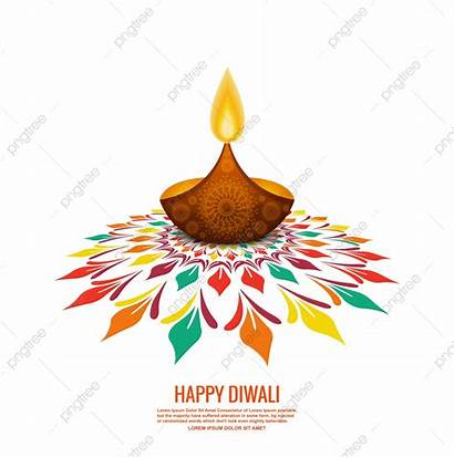 Diwali Background Happy Rangoli Holiday Colorful Diya